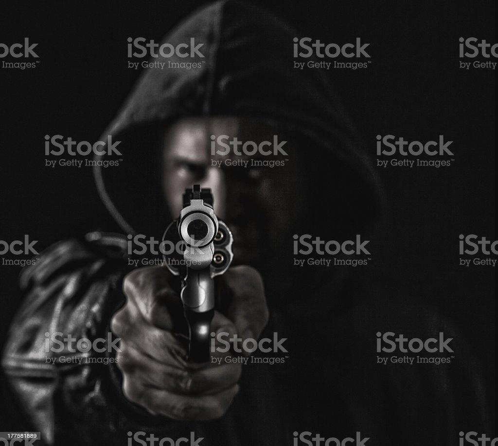Criminal Gunman royalty-free stock photo