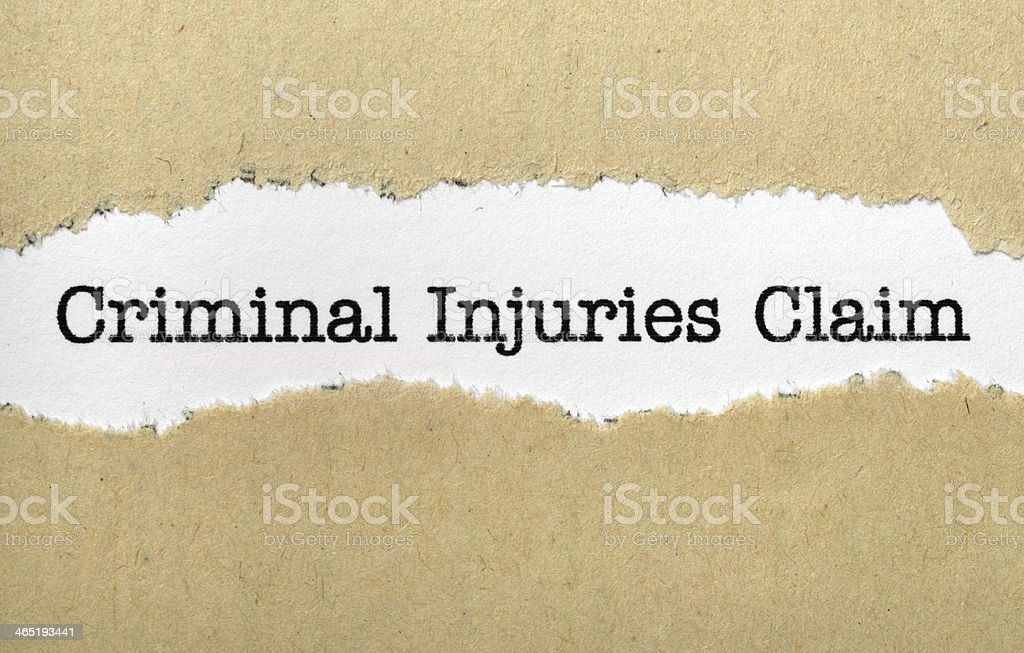 Criminal injuries claim royalty-free stock photo