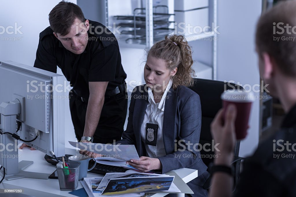 Criminal investigation department stock photo