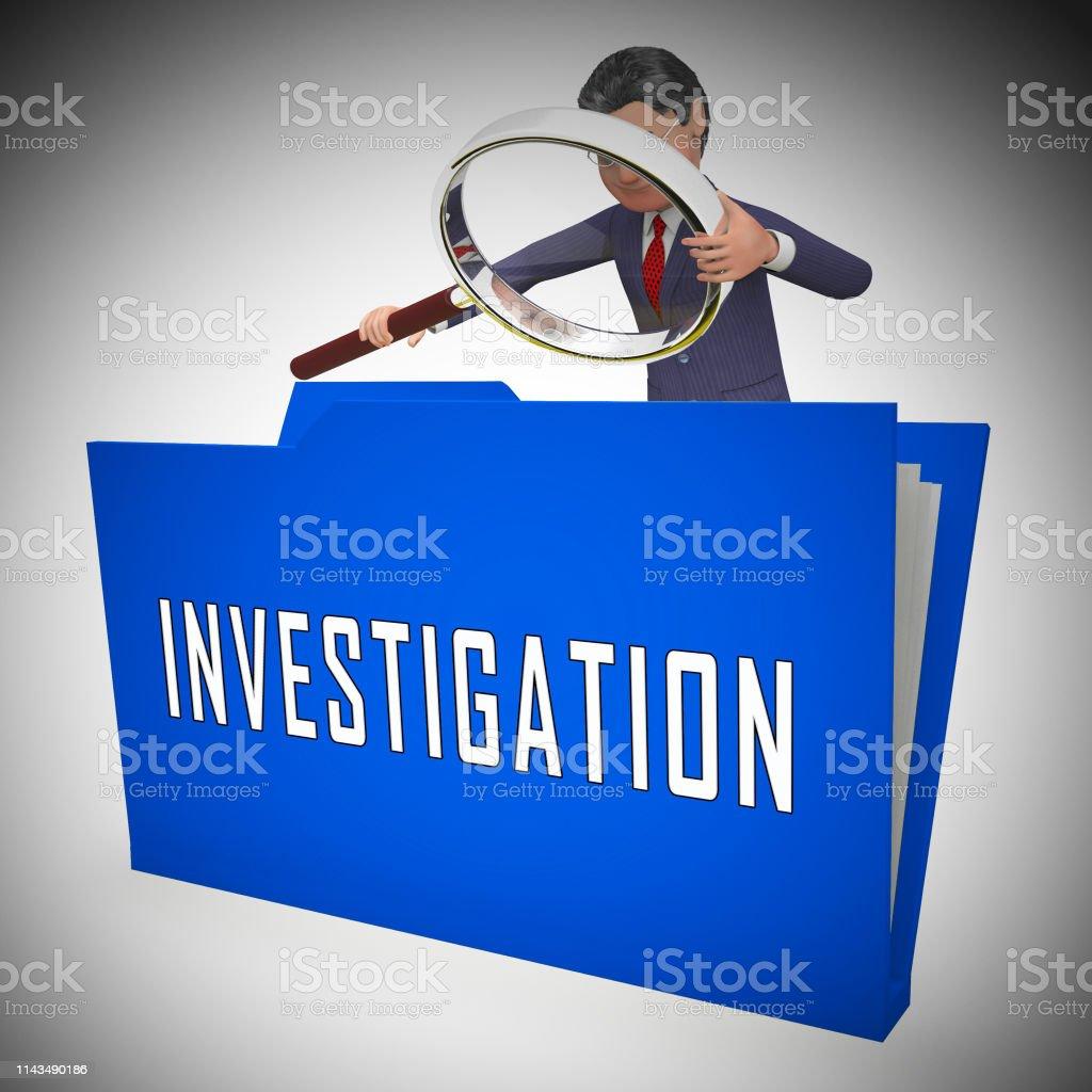 Criminal Investigation File Showing Crime Detection Of Legal Offense 3d Illustration royalty-free stock photo