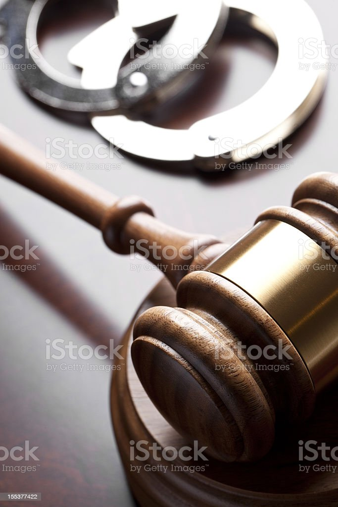 Criminal Law royalty-free stock photo