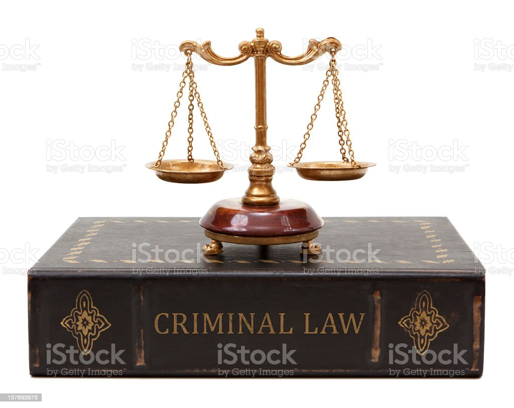 Criminal Law royalty-free stock photo
