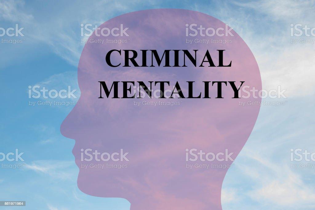 Criminal Mentality mental concept stock photo