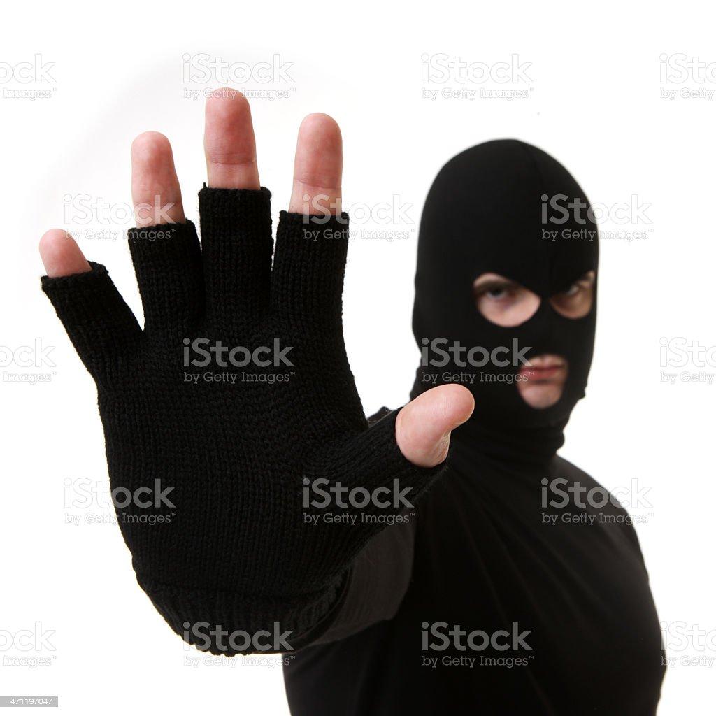 Criminal or Thief on White royalty-free stock photo