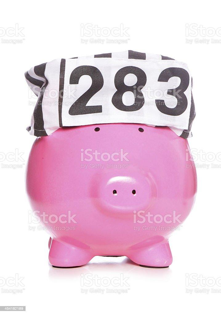 criminal piggy bank stock photo