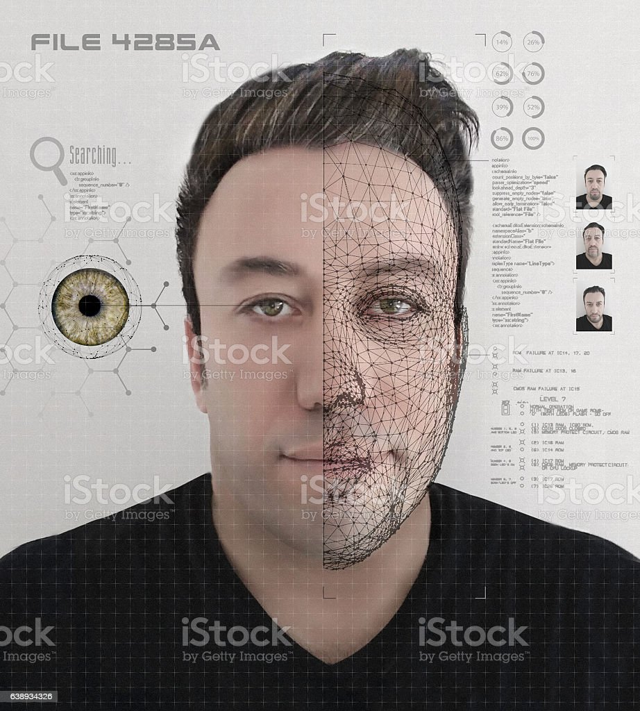 Criminal Research Technology stock photo