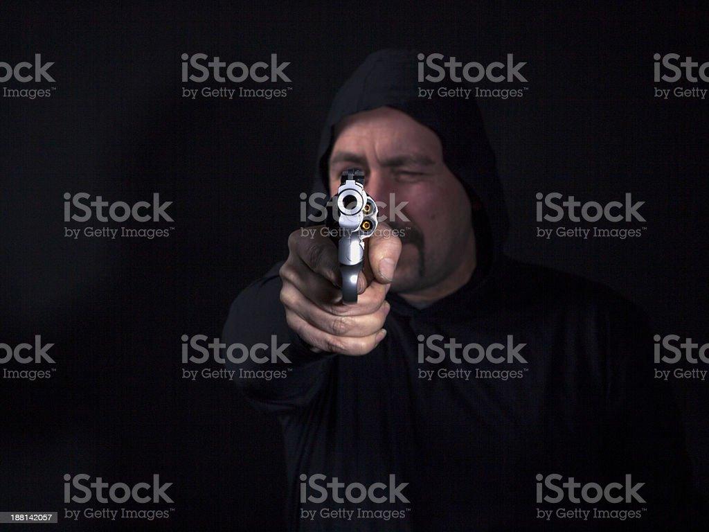 criminal con una pistola-.357 Magnum - foto de stock