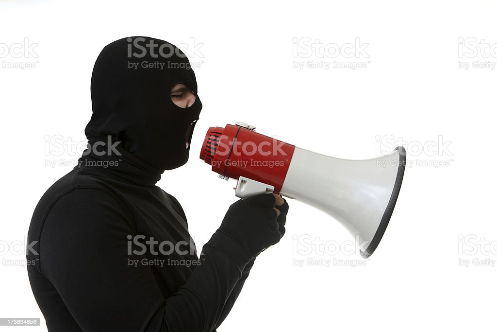 Criminal with a Megaphone royalty-free stock photo