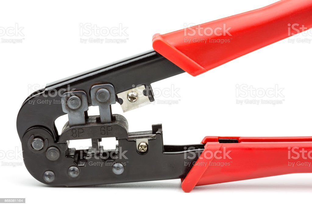 crimping tool stock photo