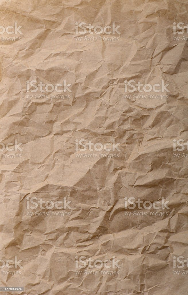 crinkeled brown paper royalty-free stock photo
