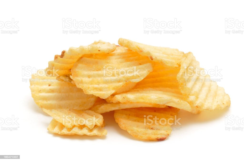 Crinkle Cut Crisps royalty-free stock photo