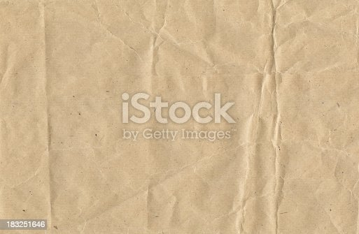 Crinkled brown paper