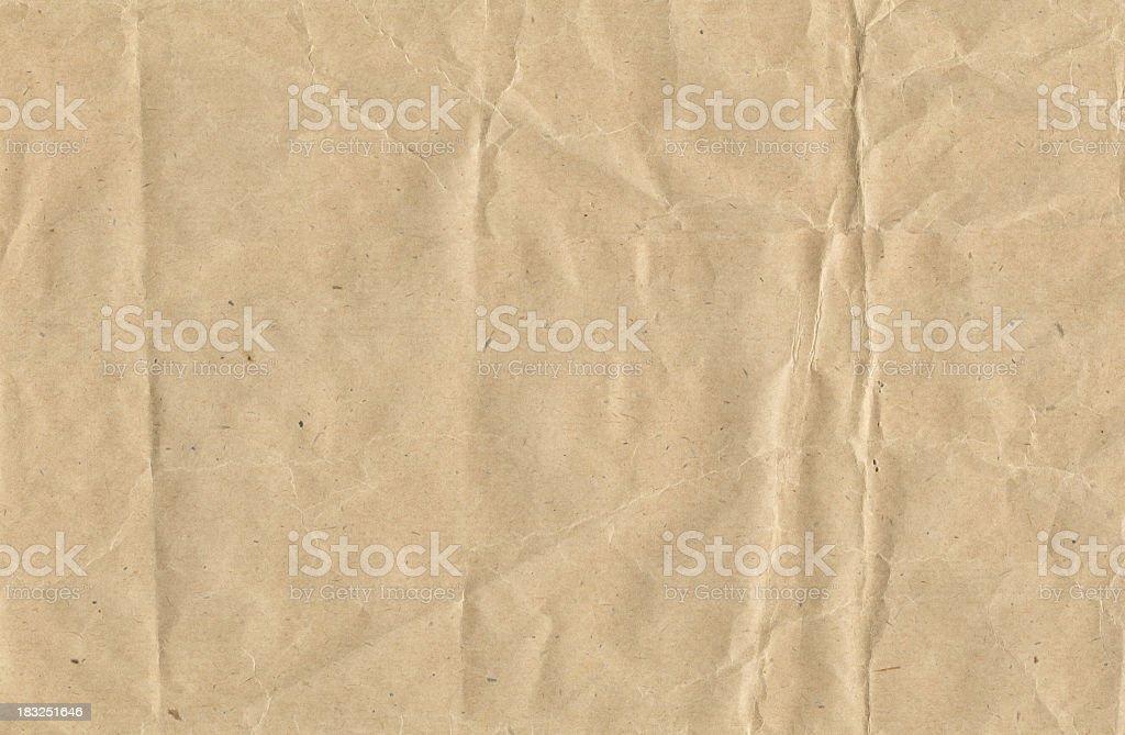 Crinkled brown paper foto