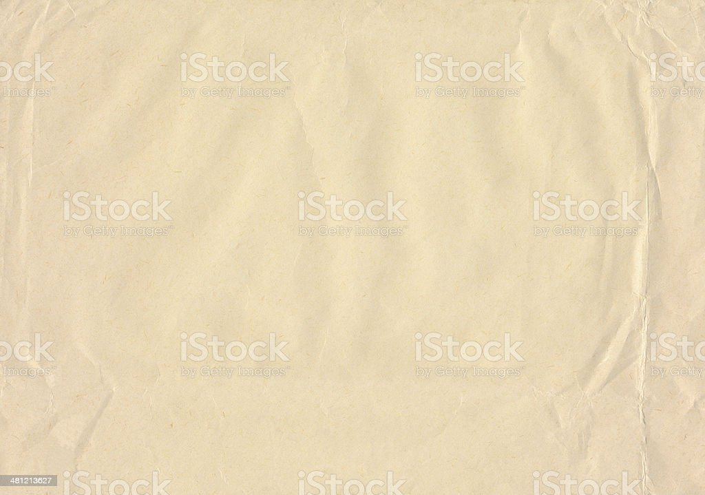 Crinkled brown paper royalty-free stock photo