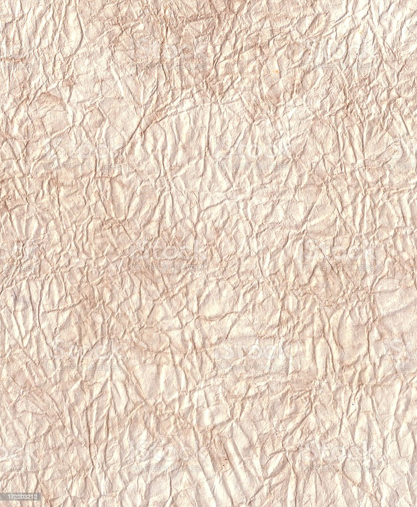 Crinkled Tissue Paper background Layer stock photo