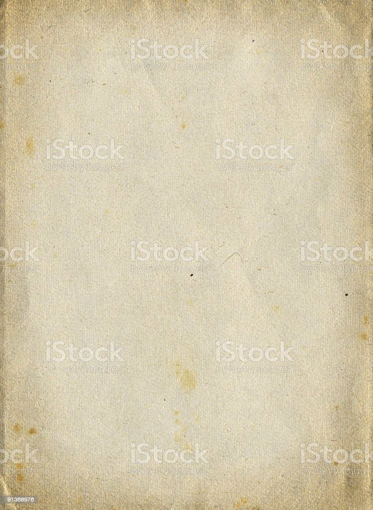 A crinkled vintage piece of textured paper royalty-free stock photo