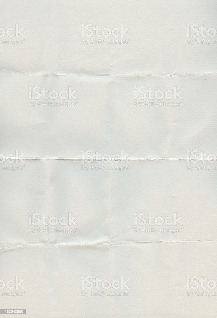 Crinkled white paper royalty-free stock photo