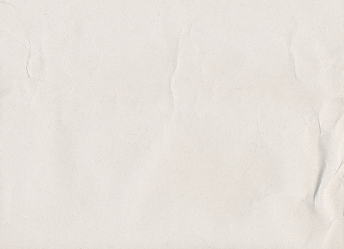 Crinkled white paper