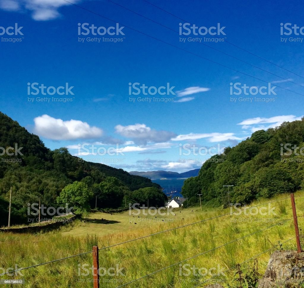 Crinon, Schotland - Royalty-free Buitenopname Stockfoto
