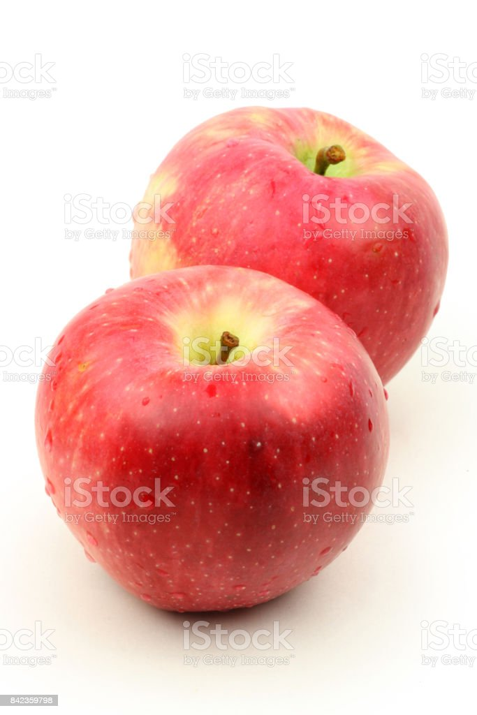 Cripps Pink Apple isolated on white background stock photo