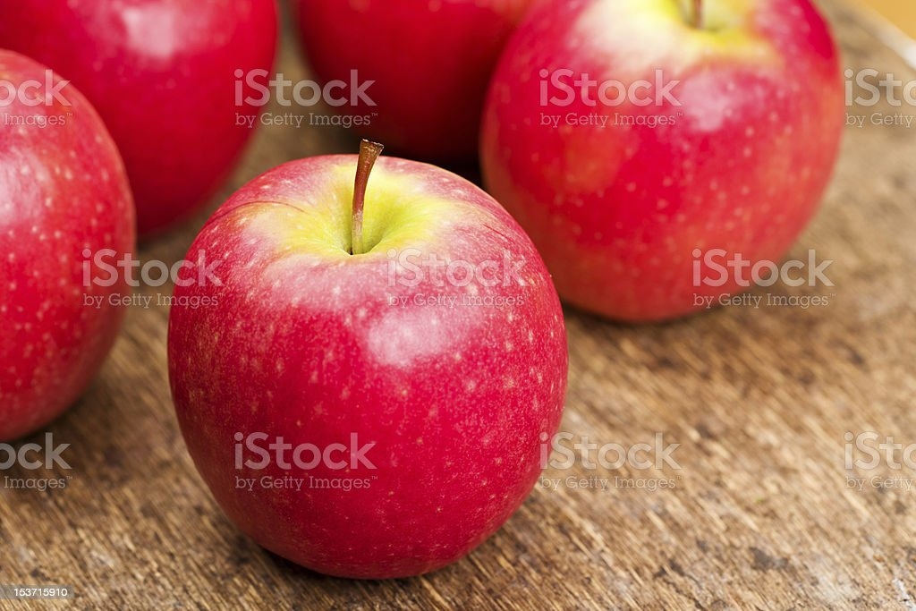 Cripps Pink apples stock photo