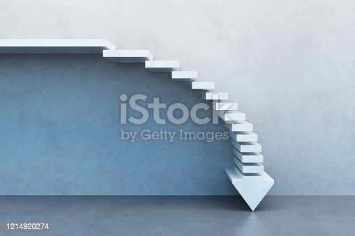 istock crisis concept, falling stairs 1214920274
