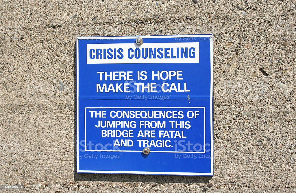 crisis counseling sign royalty-free stock photo