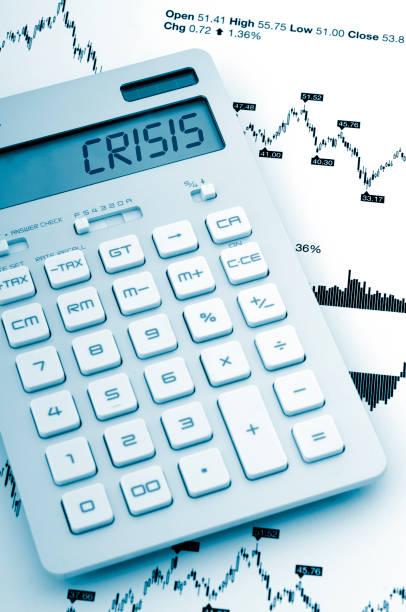 Crisis economy stock photo