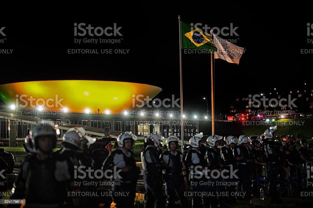 Crisis in Brazil stock photo