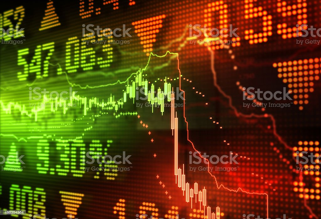 Crisis in the stock market stock photo