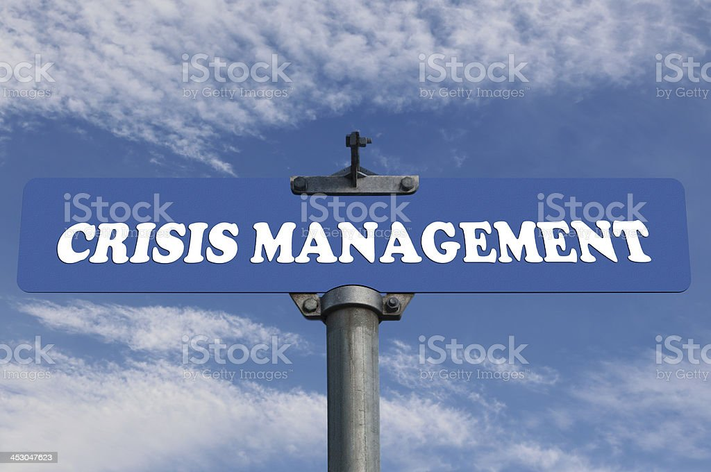 Crisis management road sign royalty-free stock photo