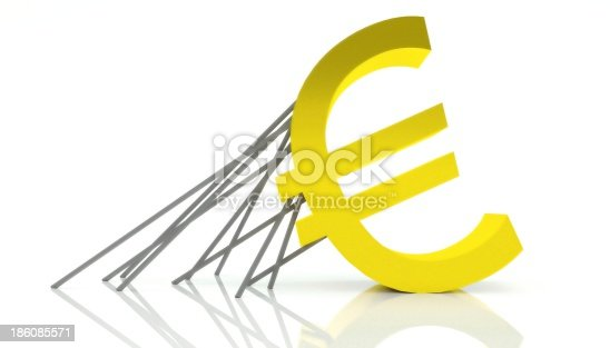 istock Crisis of Euro currency, rescue and support 186085571