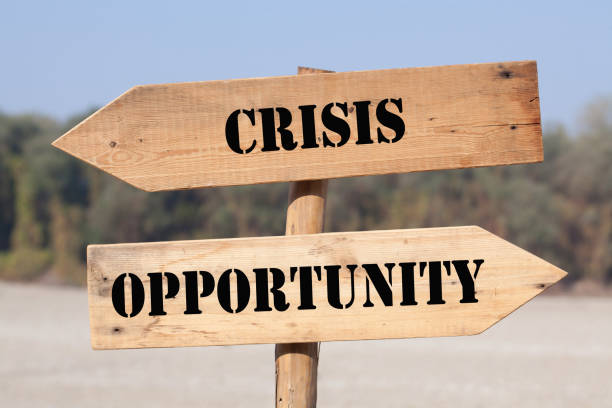 Crisis Opportunity Choice stock photo