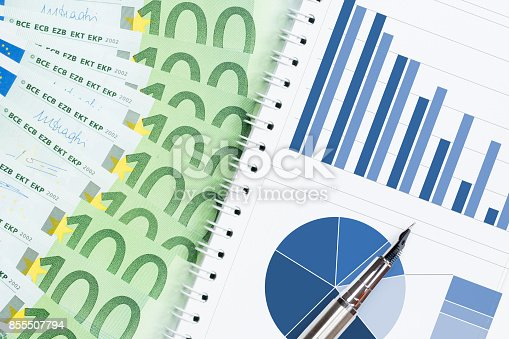 istock crisis report concept with colorful charts and euro banknotes 855507794