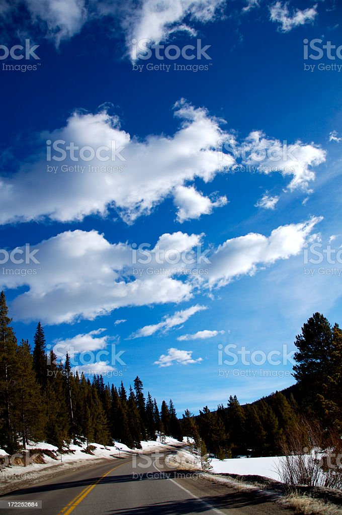 crisp blue sky stock photo