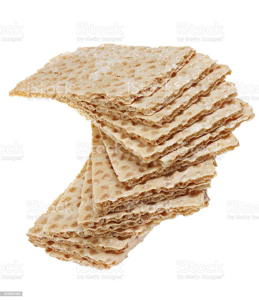 Crisp bread slice royalty-free stock photo