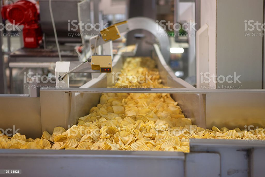 Crisp factory stock photo
