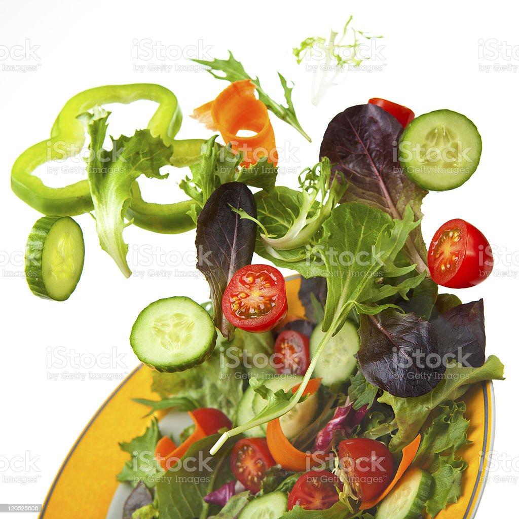 Crisp Mixed Tossed salad royalty-free stock photo