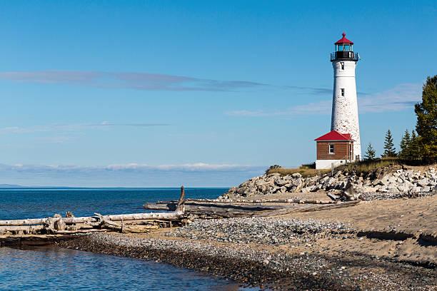Crisp Point Light on Lake Superior in Michigan