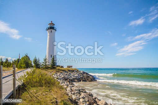 The Crisp Point Lighthouse on the shores of Lake Superior. Ownership was transferred from the state of Michigan to the Luce County government and now operates as a county park. This is not a privately owned residence or property.