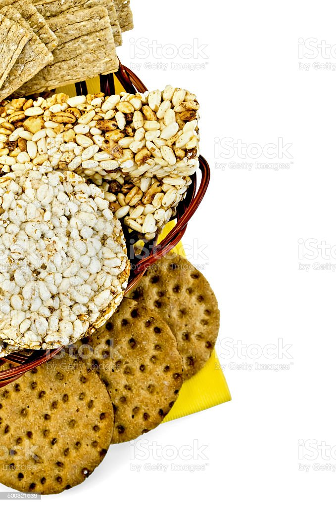 Crispbread in a basket royalty-free stock photo