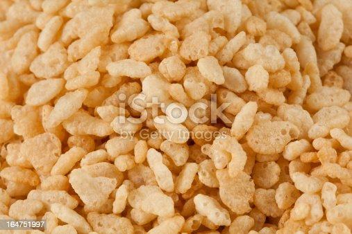 Macro of rice krispies cereal