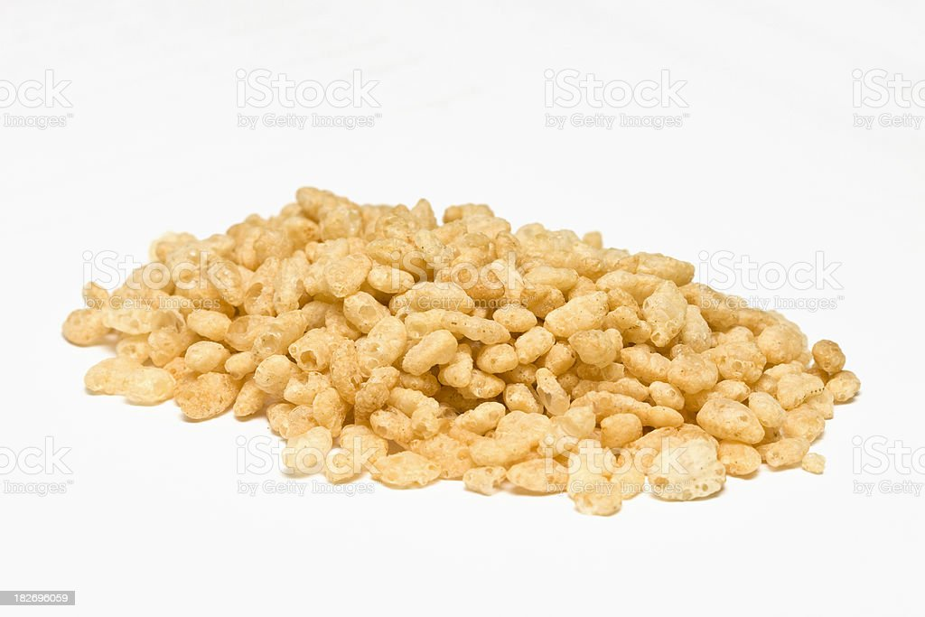 Crisped Rice Cereal. royalty-free stock photo