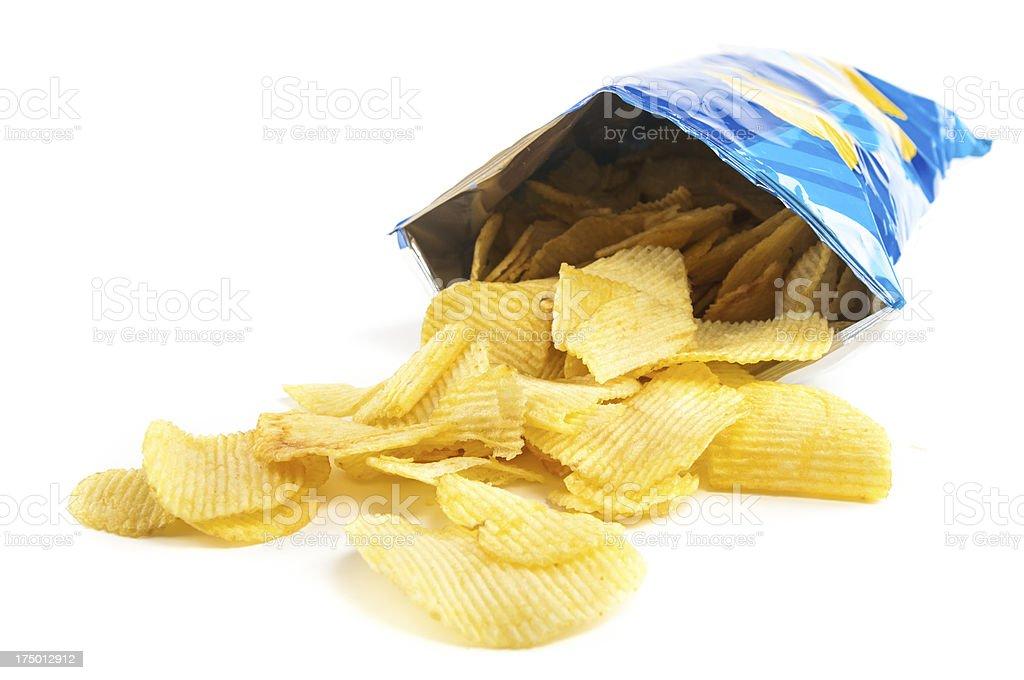 crisps - Royaltyfri Bag Bildbanksbilder
