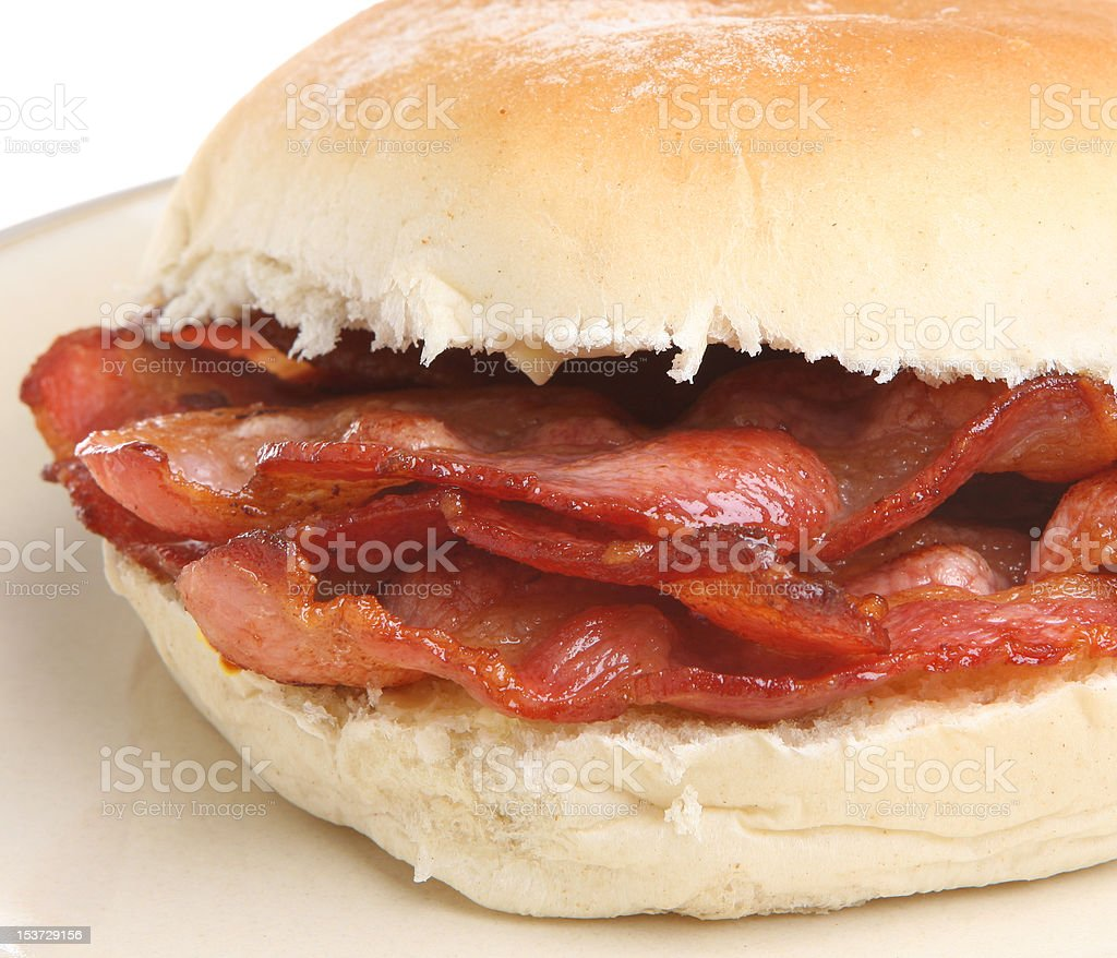 Crispy Bacon Roll stock photo