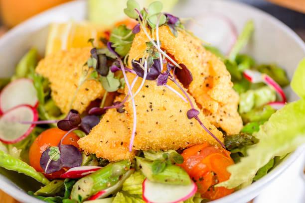 Crispy Calamari Salad stock photo
