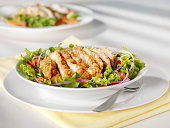 Crispy Chicken Breast Salad -Photographed on Hasselblad H3D2-39mb Camera