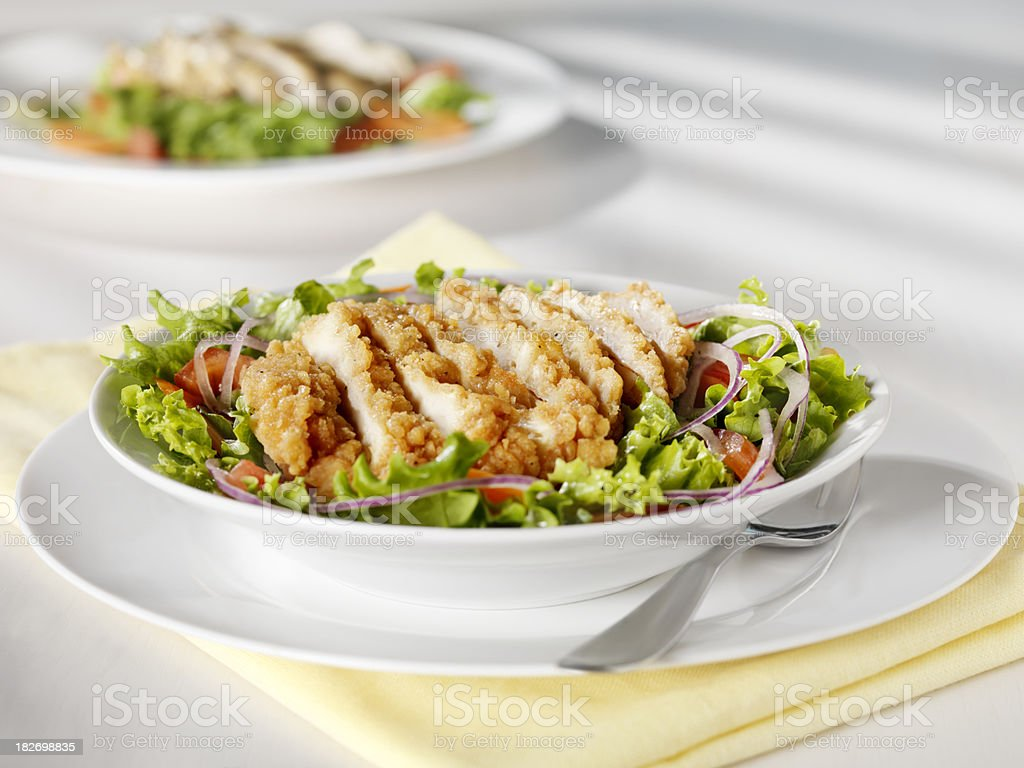 Crispy Chicken Breast Salad stock photo