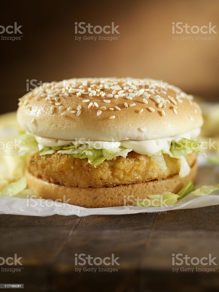 Crispy Chicken Burger royalty-free stock photo