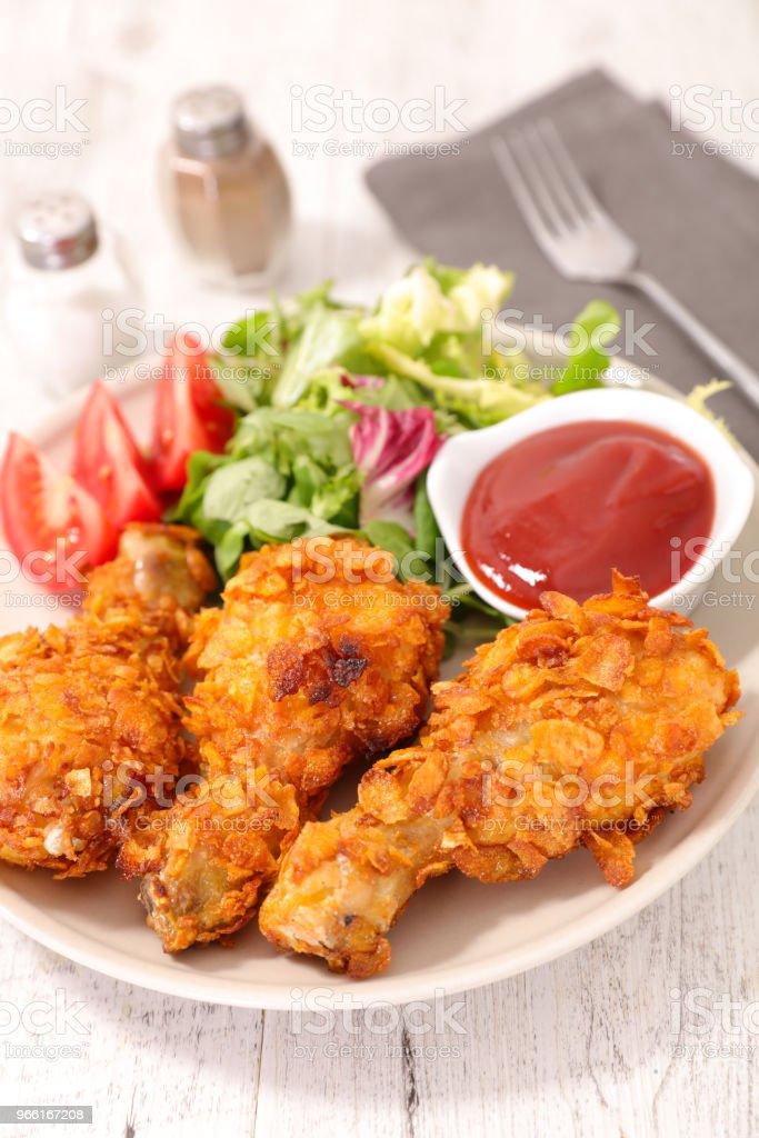crispy chicken leg - Royalty-free Breaded Stock Photo